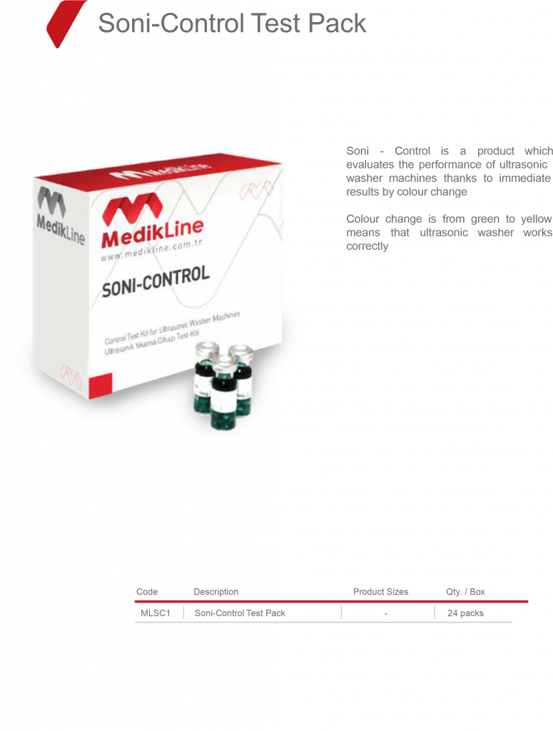 Soni-Control Test Pack